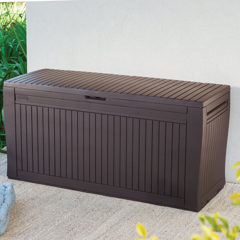 Keter Comfy 71 Gallon Resin Deck Box Amp Reviews Wayfair