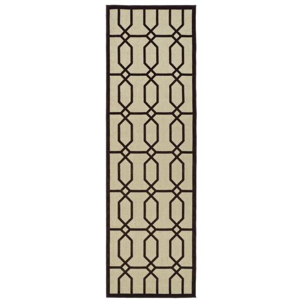 Covedale Brown/Cream Indoor/Outdoor Area Rug by Charlton Home