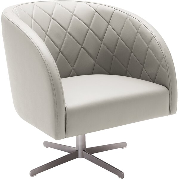 5West Boulevard Leather Barrel Chair by Sunpan Modern