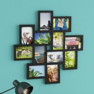 Nordman 12 Opening Decorative Wood Photo Collage Wall Hanging Picture Frame