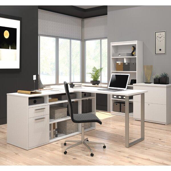 Alves 3 Piece L-Shape Desk Office Suite by Mercury Row