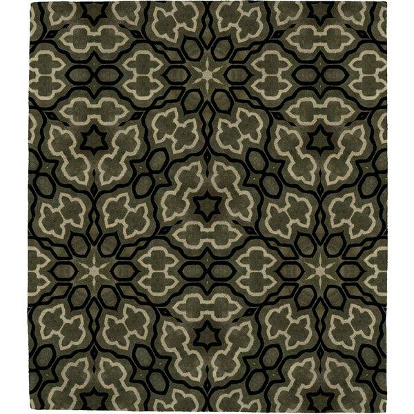 Nirvelli Wurzite A Signature Hand-Tufted Wool Green Area Rug