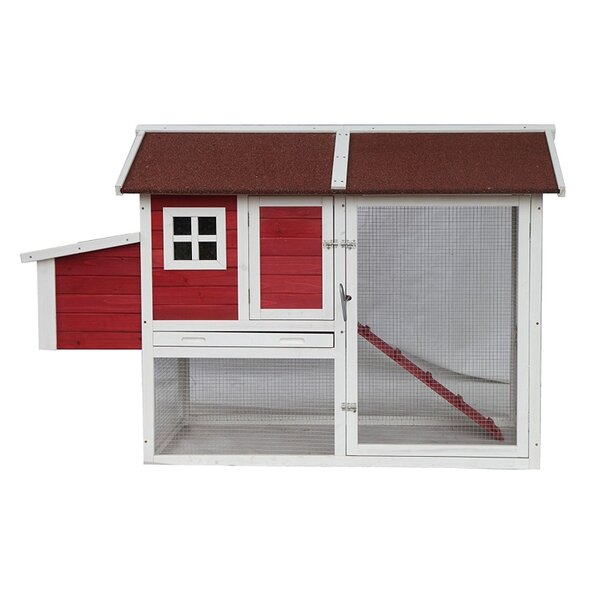 Barn Style Chicken Coop with Chicken Run by ALEKO