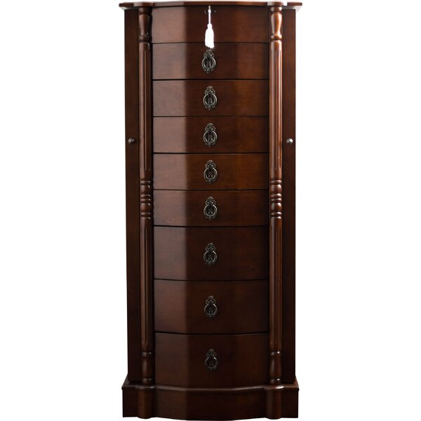 Kennell Jewelry Armoire With Mirror By Astoria Grand