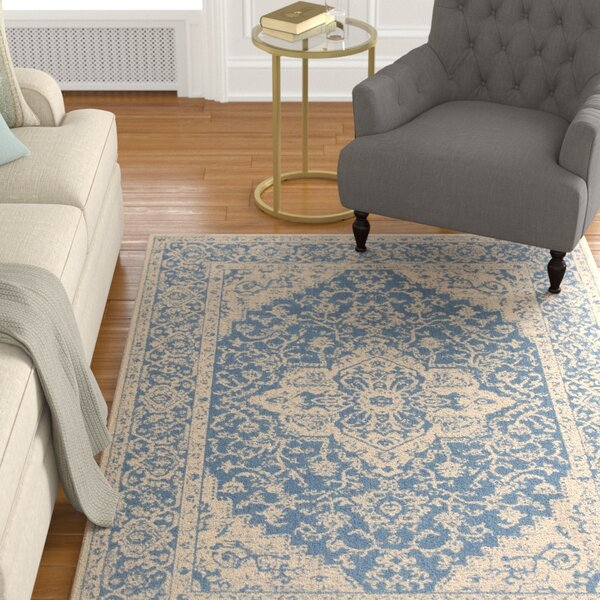 Hoover Blue/Beige Area Rug by Canora Grey