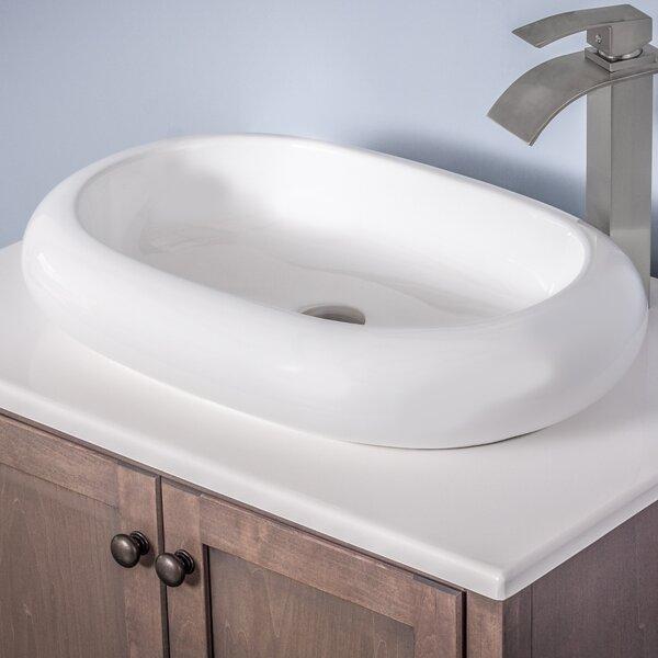 Ceramic Oval Vessel Bathroom Sink by Novatto