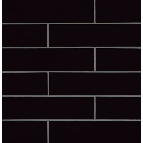 Park Place 3.88 x 16 Ceramic Field Tile in Black by Grayson Martin