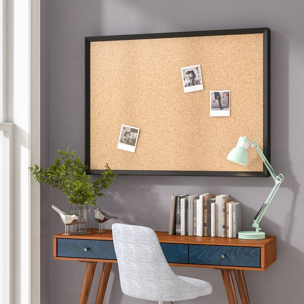 Phillips Wall Mounted Bulletin Board by Wrought St