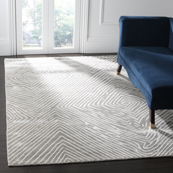 Moorhouse Hand-Woven Light Gray Area Rug by Wade Logan