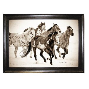 Wild Horses Framed Wall Art by Pictures and Mirrors
