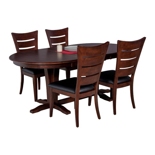 Doretha 5 Piece Solid Wood Dining Set by Darby Home Co