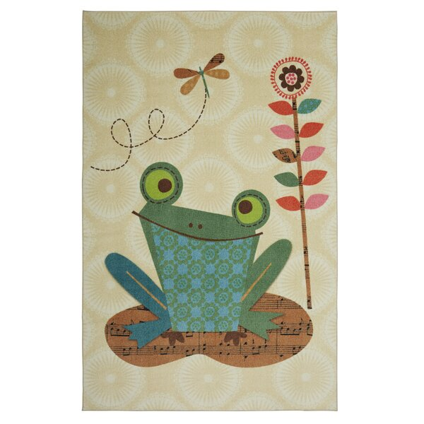 Johansson Frog Cream/Basil Area Rug by Harriet Bee