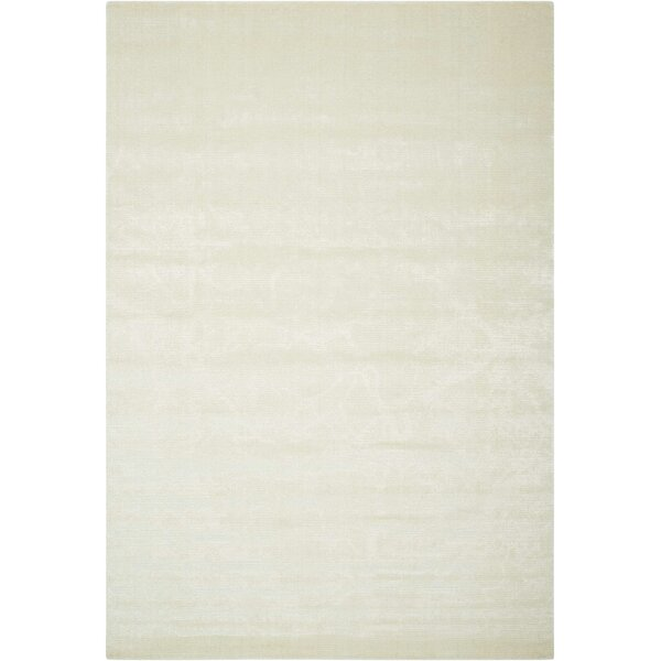 Arabelle Solid Ivory Area Rug by Bungalow Rose