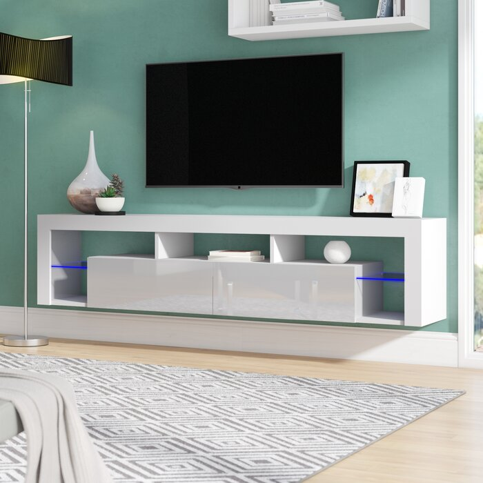 Floating Milano Floating TV Stand for TVs up to 88