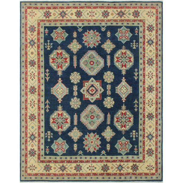 One-of-a-Kind Alday Hand-Knotted Wool Blue Area Rug by Isabelline