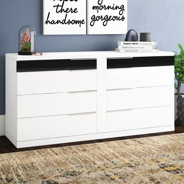 Sabra 8 Drawer Double Dresser by Wade Logan