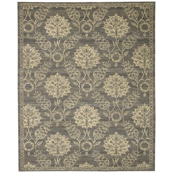 Eidelweiss Graphite Ornamental Leaf and Floral Area Rug by Darby Home Co