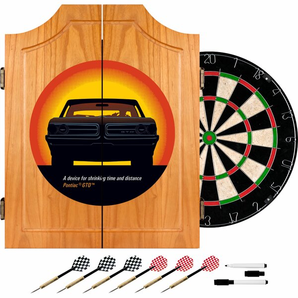 Pontiac GTO Time and Distance Dart Cabinet Set by Trademark Global