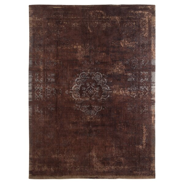 Medallion Machine-woven Indoor Brown Area Rug by Natuzzi Editions