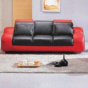 Behr Leather Reclining Sofa by Orren Ellis