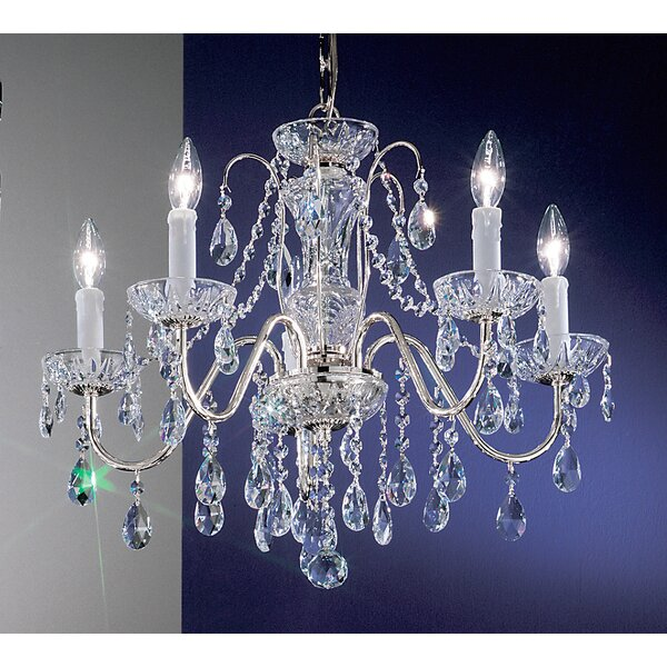 Letitia 5 - Light Candle Style Classic / Traditional Chandelier by House of Hampton House of Hampton