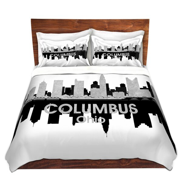 City IV Columbus Ohio Duvet Cover Set