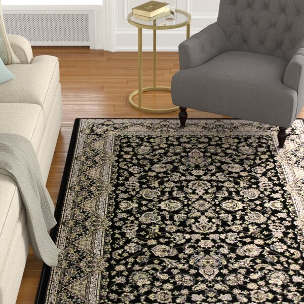 Lang Black Area Rug by Astoria Grand