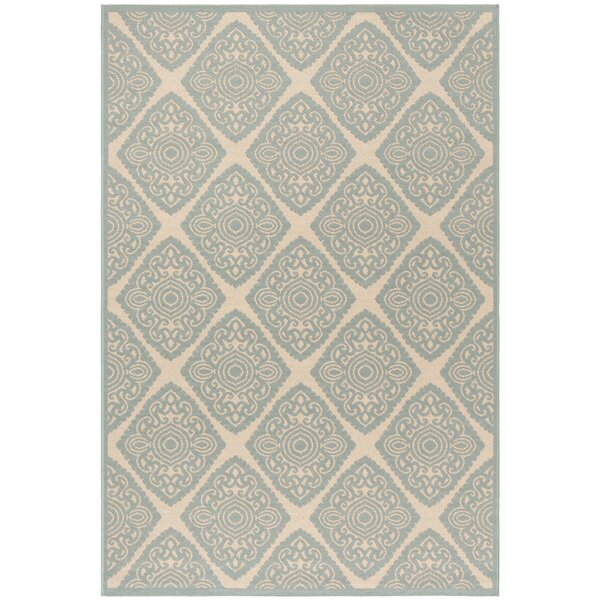 Mckinley Cream/Aqua Area Rug by Bloomsbury Market