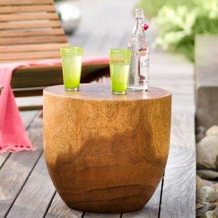 Altoga Handcarved Wooden Drum End Table