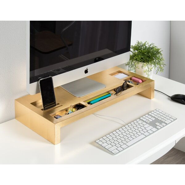 Bourgeois Wood Monitor Stand by Rebrilliant