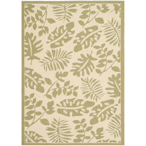 Martha Stewart Paradise Creme/Green Indoor/Outdoor Area Rug by Martha Stewart Rugs