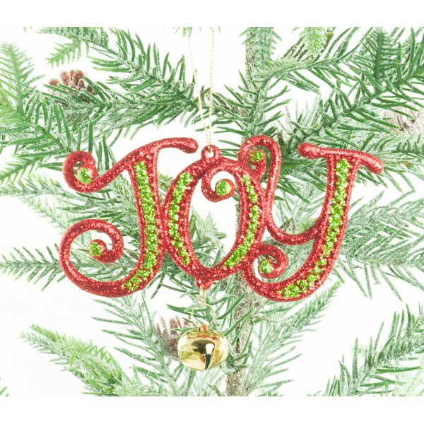 Joy Shaped Ornament (Set of 4) by The Holiday Aisle