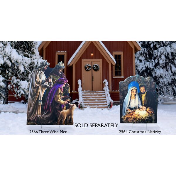 Nativity Christmas Yard Sign by The Holiday Aisle