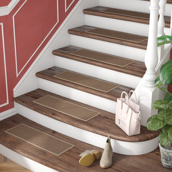 Brannan Dark Beige Stair Tread (Set of 7) by Alcott Hill