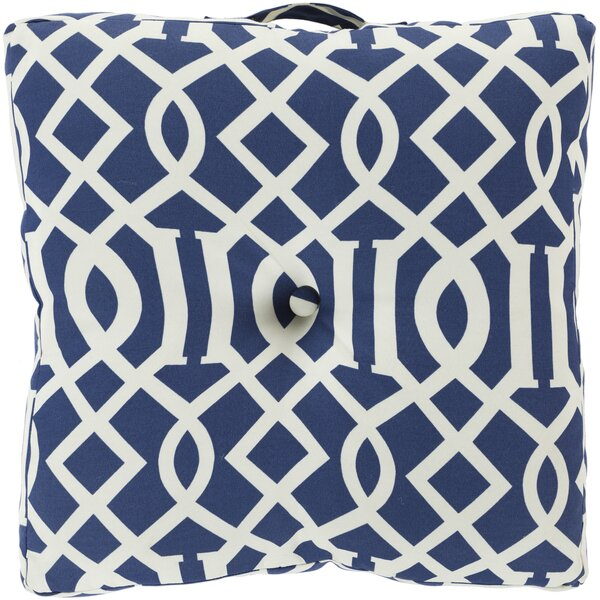 Winslow White Juxtaposed Outdoor Pillow Cover by Alcott Hill