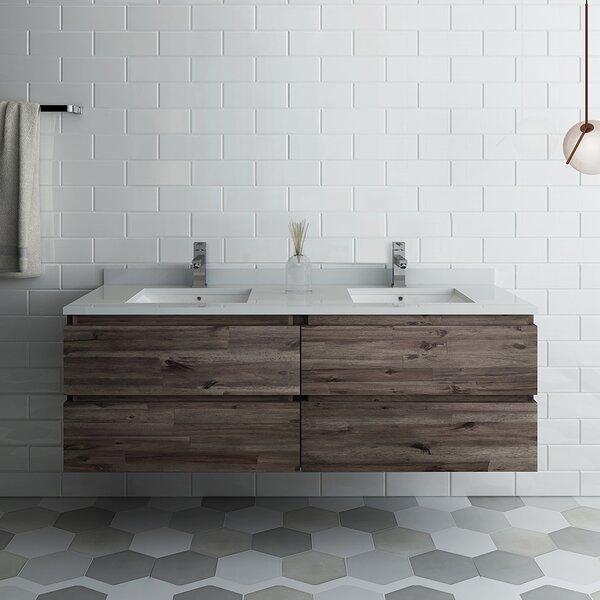 Formosa 60 Wall-Mounted Double Bathroom Vanity Set