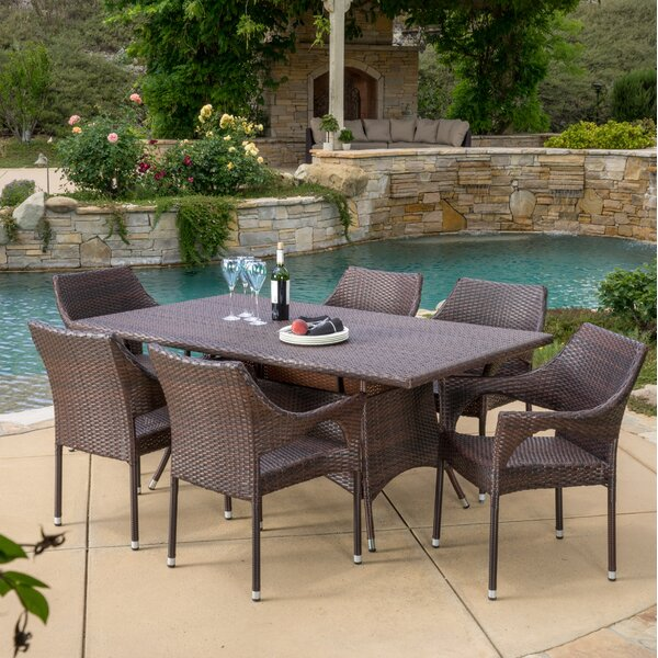 Jamaican 7 Piece Dining Set by Home Loft Concepts