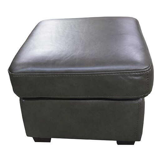 Sereno Leather Ottoman By Loon Peak