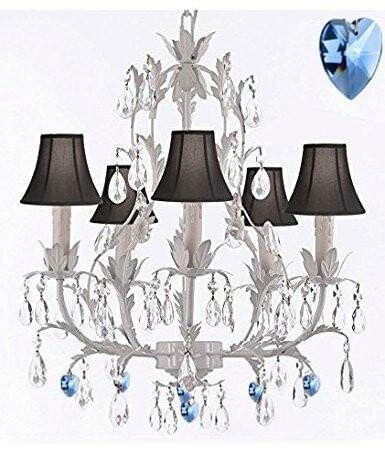 Moldenhauer 5 - Light Shaded Empire Chandelier With Wrought Iron Accents By House Of Hampton