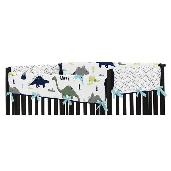 Mod Dinosaur Crib Side Rail Guard Cover (Set of 2) by Sweet Jojo Designs