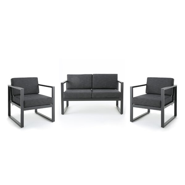 Eckenrode 3 Piece Conversation Set with Cushion by Orren Ellis