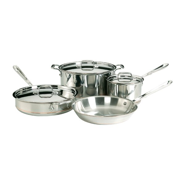 Copper Core 7 Piece Cookware Set by All-Clad