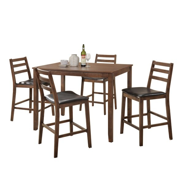Pascual 5 Piece Counter Height Dining Set by Loon Peak