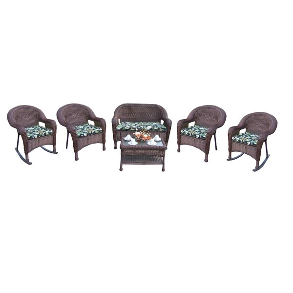 Kingsmill 6 Piece Sofa Set with Cushions by Rosecliff Heights