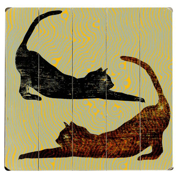 Stretching Cats Graphic Art Print Multi-Piece Image on Wood by Artehouse LLC