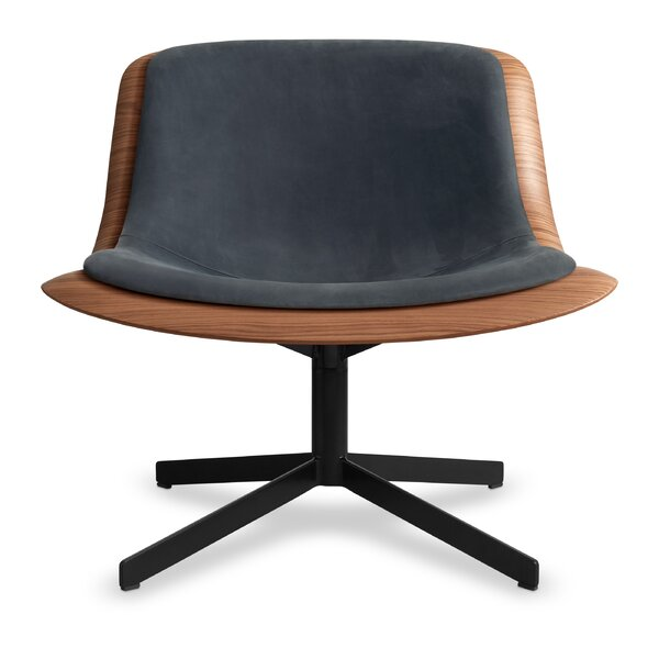 Nonesuch Leather Swivel Lounge Chair By Blu Dot