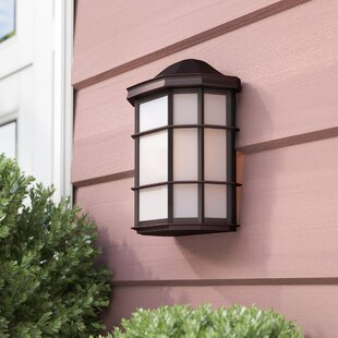 Great Price Boone 1-Light Outdoor Flush Mount By Andover Mills