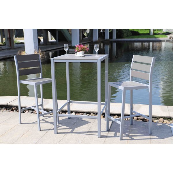 Autumn 3 Piece Bar Height Dining Set by Breakwater Bay