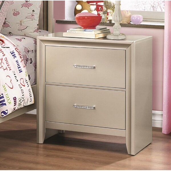 Cirillo 2 Drawer Nightstand by House of Hampton