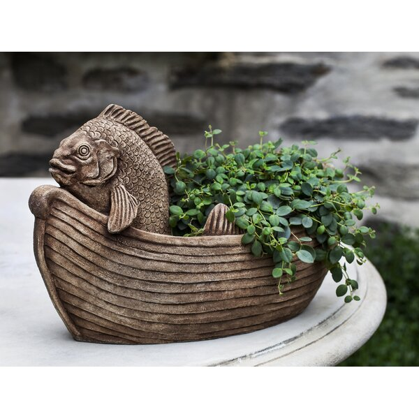 Fish Out of Water Cast Stone Statue Planter by Campania International